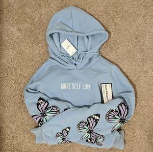 More Self Love Butterfly Hoodie Sweatshirt Embroid